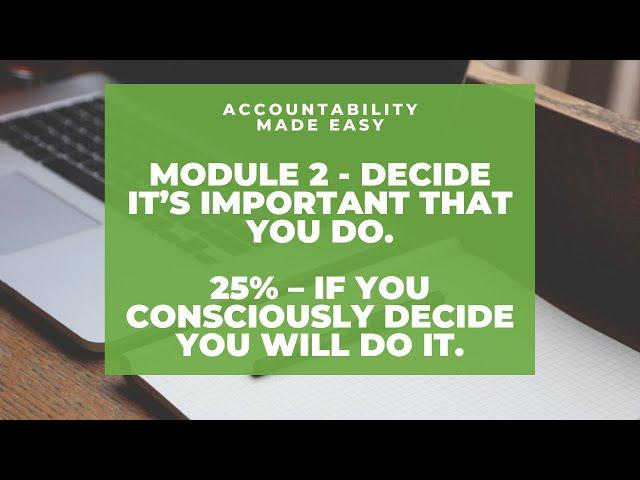 Accountability Made Easy - Module 2