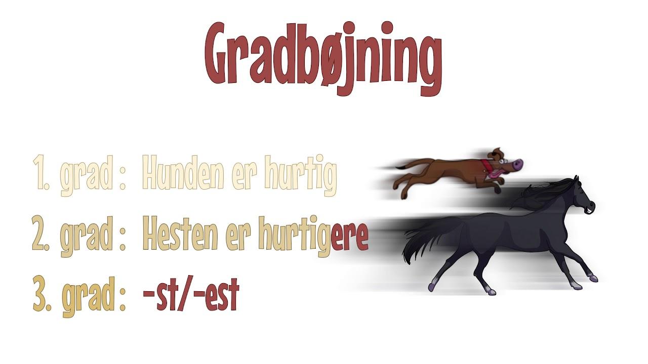 Grammatip.com - DSF - Adjektiver: Gradbøjning