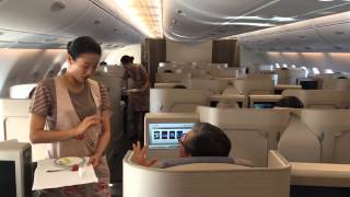 Chuck's Asiana Airlines Air Bus A380 Business Class Flight From Los Angeles To Seoul Korea
