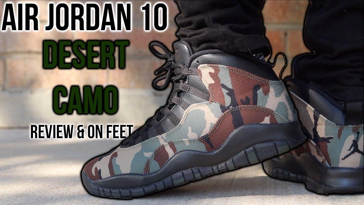 Air Jordan 10 Desert Camo Review \u0026 On