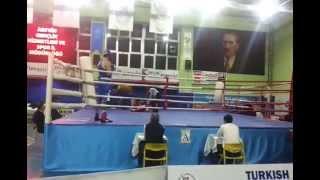 Artvin Türkiye Yıldızlar Ferdi Boks Şampiyonası +80 kg Nakavt Mavi Köşe İbrahim üçok