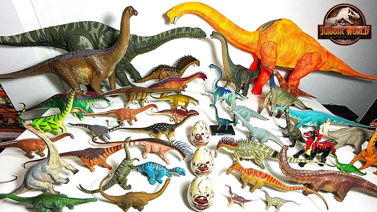 Brachiosaurus vs LONG NECKS DINOSAURS! Jurassic World Camp Cretaceous Sauropods Collection!