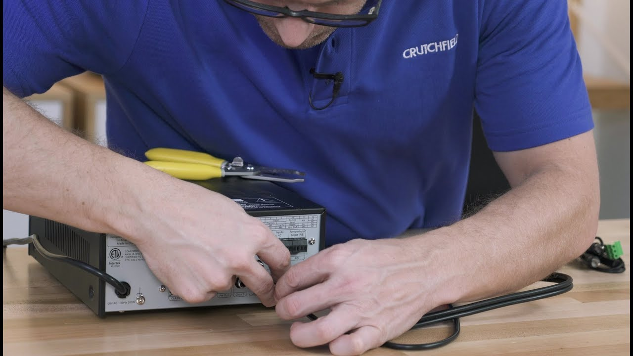 How To Connect Rca Cables Phoenix Style Connectors Crutchfield Stereo Input Jack Wiring Video