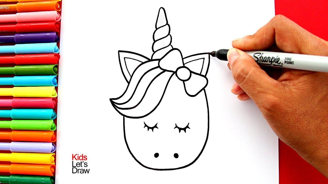 Aprende A Dibujar Una Cabeza De Unicornio Kawaii Fácil Para Decorar Youtube