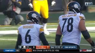 Devlin Hodges 79-Yard TD to James Washington | Steelers vs. Bengals | NFL