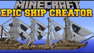 Minecraft : EPIC SHIP CREATOR - Mod Showcase (Archimedes