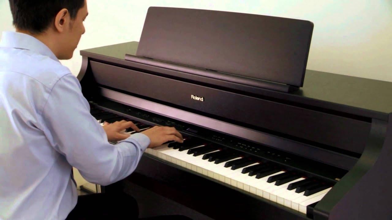 roland hp 500 piano digital youtube. Black Bedroom Furniture Sets. Home Design Ideas
