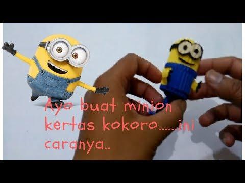 Easy kokoru Art:  How to make an minion KoKoru paper-bagaimana membuat minion KoKoru