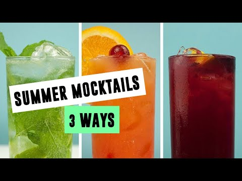 Super Simple Summer Mocktails 3 Ways | SO VEGAN