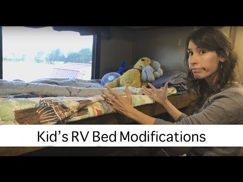 Kid's RV Bed Modifications | This tip allows the beds to be made easily!
