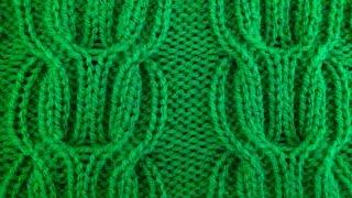 Узор косичка из лицевых и изнаночных петель Видео урок вязание на спицах. Ponytail pattern knitting