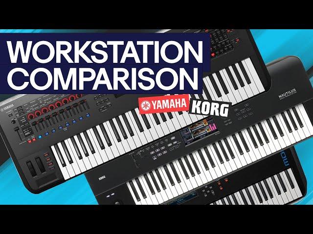 Workstation Comparison: Yamaha Montage, MODX and Korg Nautilus