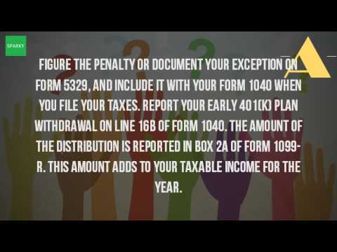 How Do I Report 401k Distribution Taxes Youtube