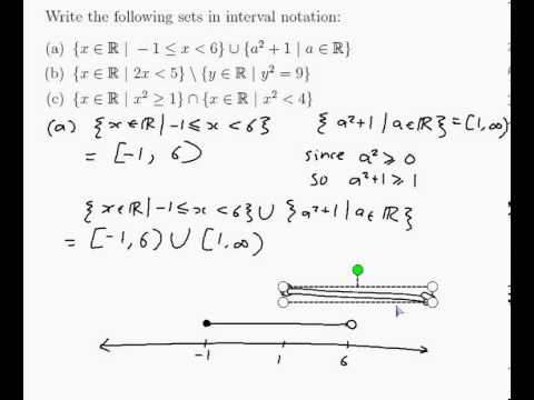 write in interval notation