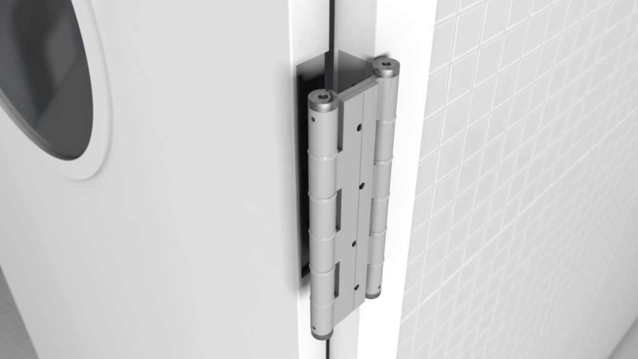 How interior swinging door hinge works