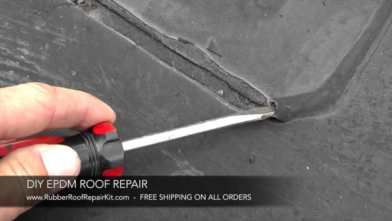 Rubber Roof Repair Lap Sealant Removal Youtube