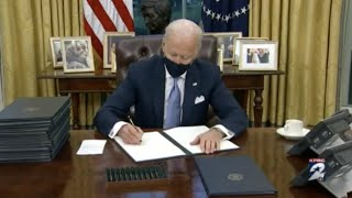 President Biden signs 15 executive actions on first day