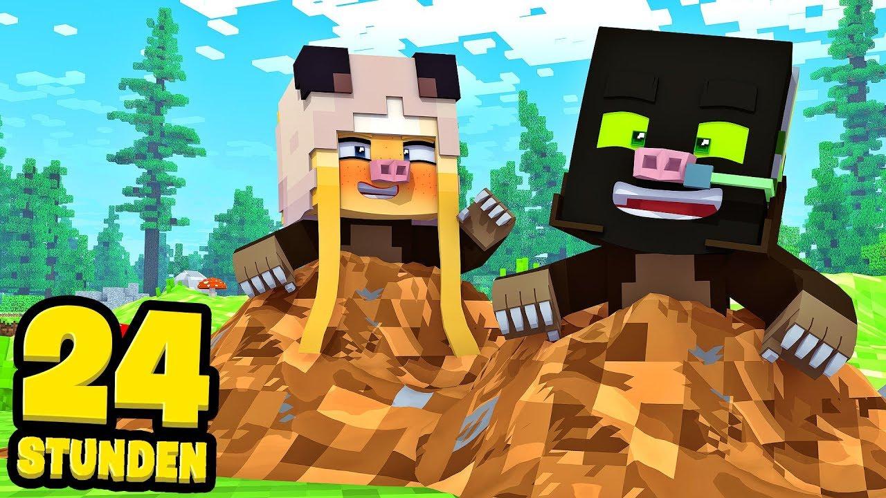 Download 24 STUNDEN als MAULWURF LEBEN?! - Minecraft [Deutsch/HD]