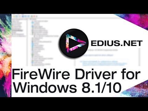 EDIUS NET Podcast - FireWire Driver for Windows 8 1/10 - YouTube