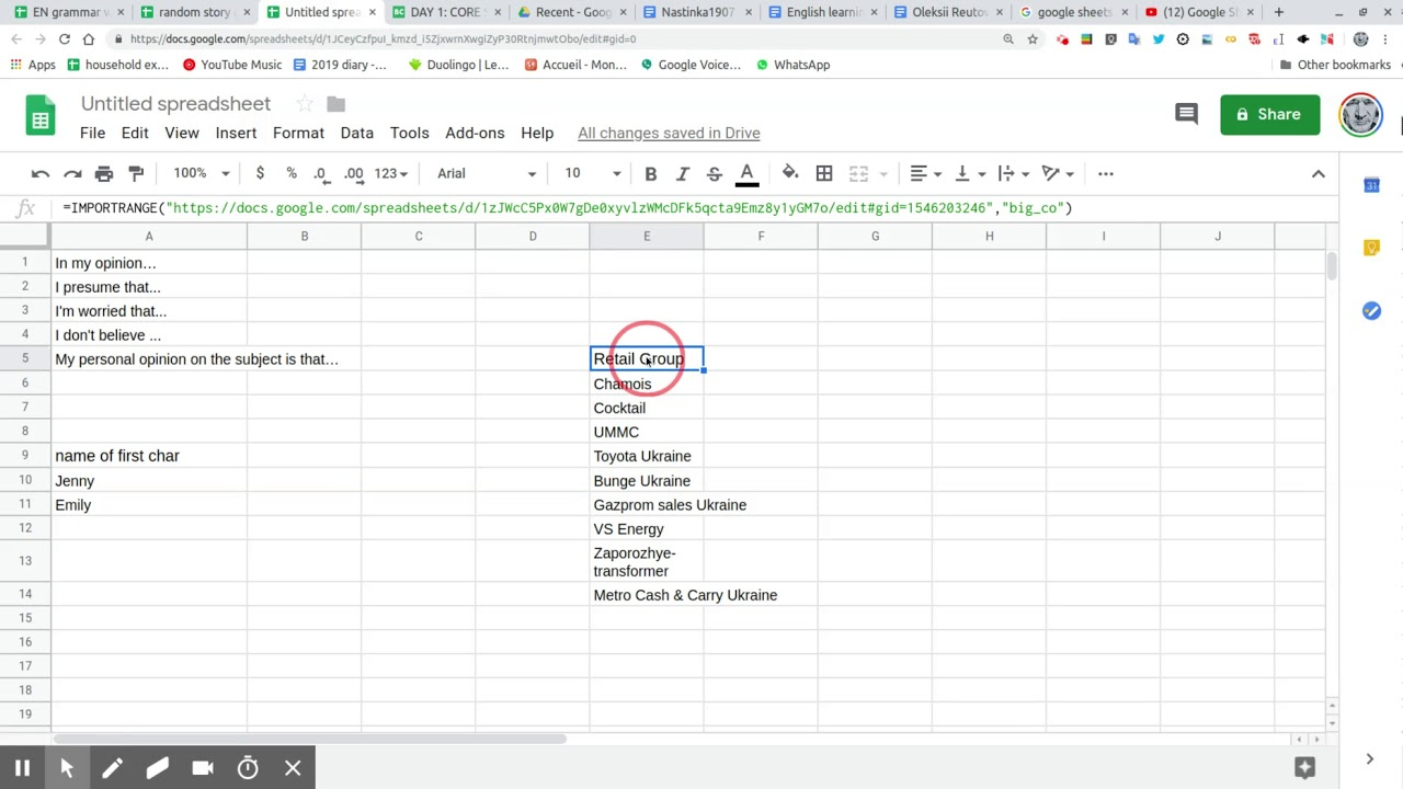 google sheet using importrange to share data across different google sheets  May 21, 2019