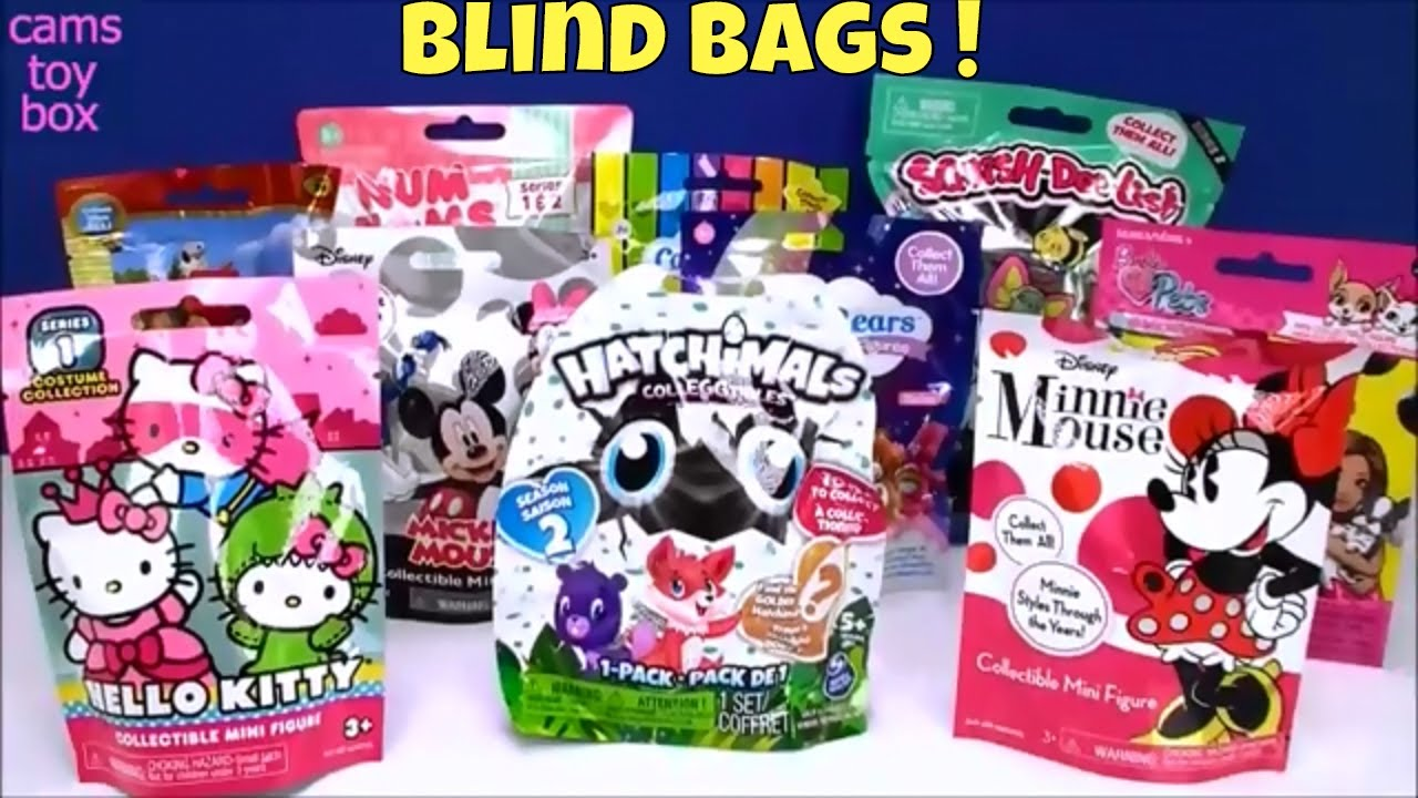 Blind Bags Opening Toys Num Noms Hello Kitty Minnie Mouse