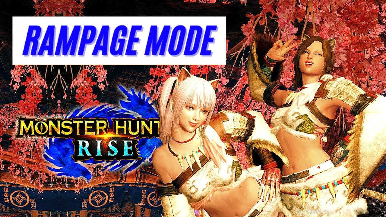 Monster Hunter Rise RAMPAGE MODE GAMEPLAY TRAILER DISCUSSION NEWS REVEAL モンスターハンターライズ 百竜夜行 楽しい?