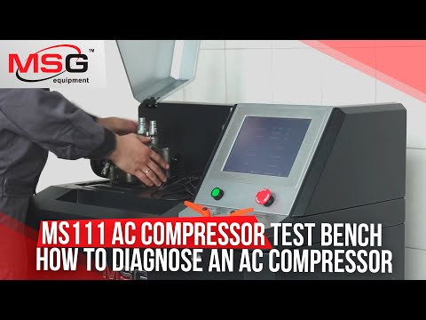 MS111 A/C Compressor Test Bench. How To Diagnose An A/C Compressor?
