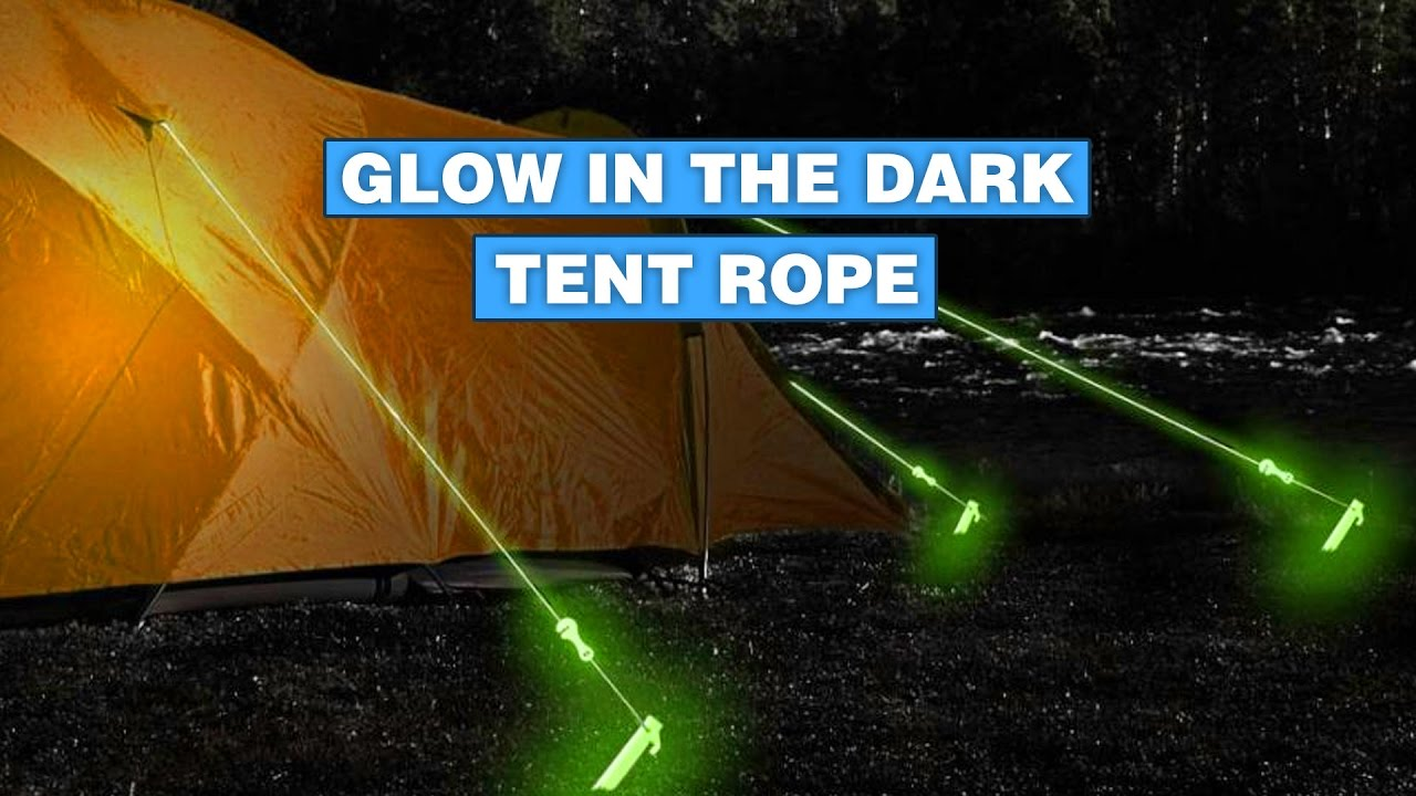 4 x 50 feet FLUORESCENT GLOW IN THE DARK DIAMOND BRAID GUY TENT ROPES camping
