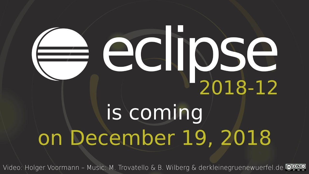 Eclipse IDE 2018-12 arrives with some major improvements