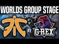 FNC vs REX - Worlds 2018 Group Stage Day 8 - Fnatic vs G-Rex - Worlds 2018 Group Stage Day 8