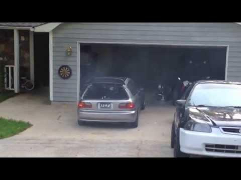 mid engine civic hatch burnout