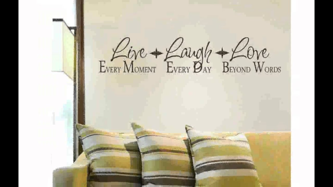 Live Love Laugh Wall Decals YouTube - Wall decals live laugh love