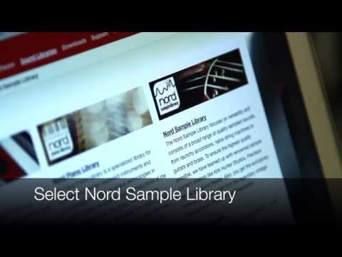 How to transfer a sample to your Nord instrument