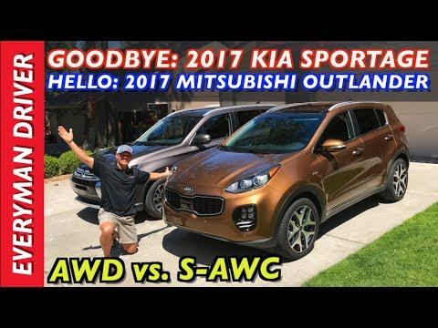 Goodbye 2017 Kia Sportage and Hello 2017 Mitsubishi Outlander on Everyman Driver