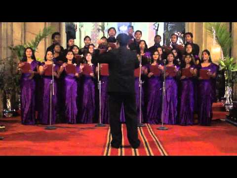 CSF choir performance in 2010 in All Saints Cathedral, Allahabad.flv