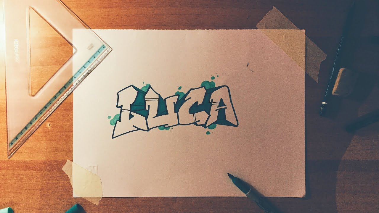 How To Draw A Name In Bubble Letters