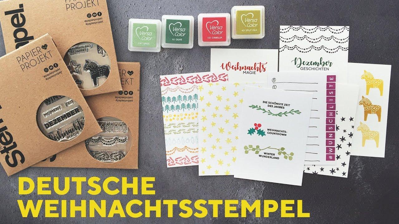 Deutsche Weihnachtsstempel, passende Buchstaben & andere ...