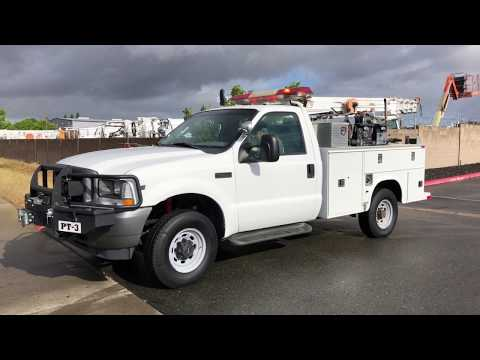 2003 Ford F350 4x4 Cascade Fire Brush Truck For Sale