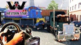 Euro Truck Simulator 2 - American Trucking (Western Star, oversize train) engine mod v1.9.22 HD 2014