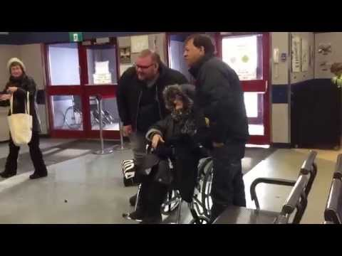105 year-old Pauline Page visits Churchill, MB