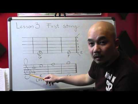 Tự học guitar căn bản bài 3( Dây 1)