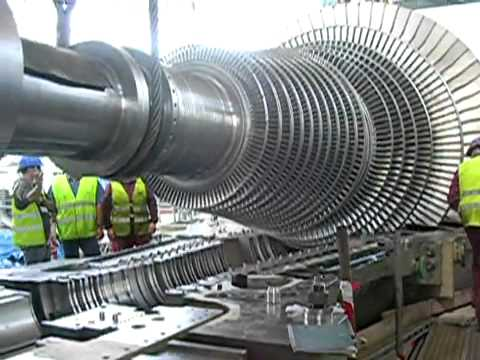 Steam turbine Rotor turbine de vapeur GE.flv