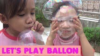 Mainan Anak Balon Tiup - Asyiknya Bermain Tiup Balon - Play Inflatable Ballon