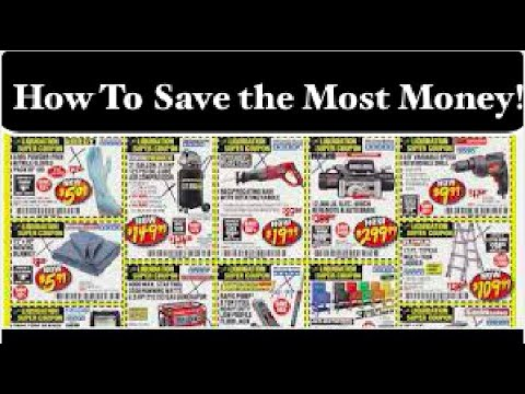 How To Use Harbor Freight Coupons! Fool Proof Method of Couponing.