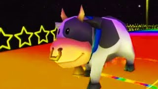Racing As A Cow In Mario Kart Wii
