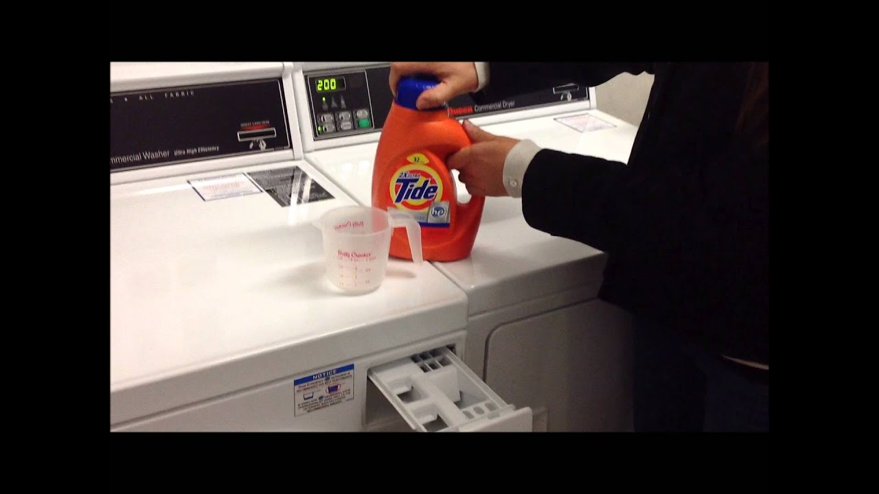 Adding Liquid Detergent To A Speed Queen Front Load Washer