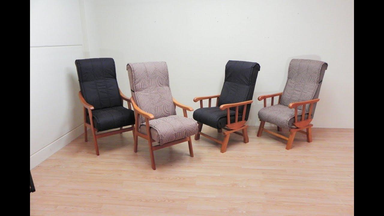 Sillon y balanc n nacional de madera y acolchado for Sillas y sillones de diseno