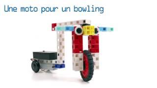 Concevoir un robot moto amusant pour faire un bowling