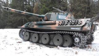 Радиоуправляемый танк Heng Long Panther Пантера PRO, зимний лес(Радиоуправляемый танк Heng Long Panther