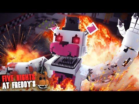 Minecraft: FIVE NIGHTS AT FREDDYS #132 - EXPLODIMOS O NIGHTMARE FUNTIME FREDDY!!!